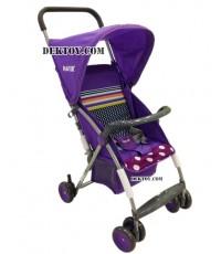 รถเข็นเด็กเนเจอร์สมาร์ท 2 สีม่วง