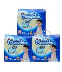 มามี่ โพโค เทปกาว-MamyPoko Extra Dry ไซส์ M ขนาด 72 ชิ้น x 3 แพ็ค ยกลัง