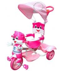 รถสามล้อเด็กหน้าแมว สีชมพู BCJG0056M