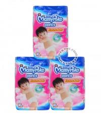 มามี่ โพโคกางเกง-MamyPoko Pants Extra Soft เด็กหญิง ไซส์ XL ขนาด 46 ชิ้น x 3 แพ็ค ยกลัง