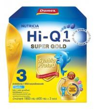 นมผงดูเม็กซ์ไฮคิว1พลัสซูเปอร์โกลด์รสจืด3-Dumex Hi-Q 1 Plus Super Gold 3(1800g)