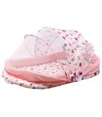ชุดที่นอนเด็ก+มุ้ง คาเมร่า สีชมพู C-WC-10255