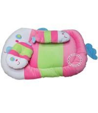 ที่นอนเด็กกำมะหยี่ปลา สีชมพู