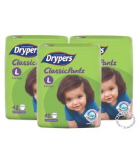 ดรายเพอร์ส คลาสสิคแพ้นท์-Drypers Classic Pantz ไซส์Lขนาด 48 ชิ้น x 3 แพ็ค