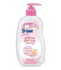 D-nee Pure-ดีนี่ เพียว ครีมอาบน้ำสูตรน้ำนมและโยเกิร์ต ขนาด 380 มล.(สีชมพู)