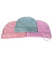 หมวกเด็กแรกเกิด แพ็ค 3 ใบ คละสีเด็กหญิง