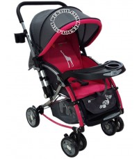 Fin Babiesplus รถเข็นเด็กปรับโยกได้ ฟินเบบี้พลัส มีมุ้ง 2 in 1 CAR-721S สีชมพู