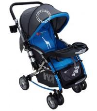 รถเข็นเด็กปรับโยกได้ ฟาร์ลินมีมุ้ง 2 in 1 CAR-721 สีฟ้า