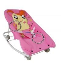 เปลโยกเด็กแฮมทาโร่ baby rocking Hamtaro 216009 สีชมพู