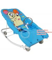 เปลโยกเด็กแฮมทาโร่ baby rocking Hamtaro 216009 สีฟ้า