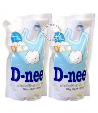 D-nee น้ำยาซักผ้าเด็กดีนี่- กลิ่น Lovely Sky สีฟ้า 600 มล. 1 แถม 1 x 6 ชุด 12 ถุง