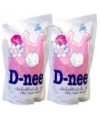 D-nee น้ำยาซักผ้าเด็กดีนี่- กลิ่น Honey Star สีชมพู 600 มล. 1 แถม 1 x 3 ชุด 6ถุง