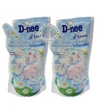 D-nee น้ำยาซักผ้าเด็กดีนี่- ไลฟ์ลี่ไบร์ทแอนด์ไวท์ 600 มล. 1 แถม 1 x 3ชุด 6 ถุง