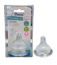 Pureen เพียวรีน จุกนมคอกว้างเสมือนนมแม่Natural Plus ไซส์ S แพ็ค 2 ชิ้น