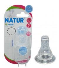 Natur เนเจอร์ จุกนมเนเจอร์ไบโอมิมิค biomimic ไซส์ S แพ็ค 3 ชิ้น 85185