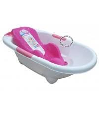 NANNY แนนนี่ อ่างอาบน้ำเด็กแนนนี่ N273 พร้อมเตียงอาบน้ำN271 ชมพู