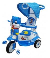 รถสามล้อเด็กหน้าแมวก้นใหญ่ สีฟ้า BCQB0002ML