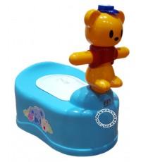 กระโถนเด็กรูปหัวหมีFarlin USE-01B/G สีฟ้า