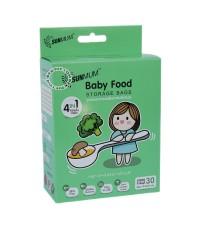 SUNMUM ซันมัม ถุงบรรจุอาหารแช่งแข็งสำหรับเด็กซันมัม30ใบ