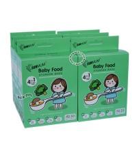 SUNMUM ซันมัม ถุงบรรจุอาหารแช่งแข็งสำหรับเด็กซันมัม30ใบx6กล่อง