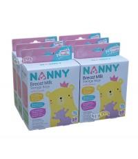 NANNY แนนนี่ ถุงเก็บน้ำนมแนนนี่ Nanny 20 ใบ x 6 แพ็ค 120 ถุง