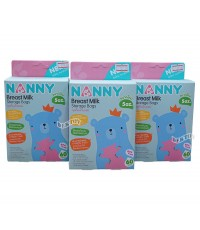 NANNY แนนนี่ ถุงเก็บน้ำนมแนนนี่Nanny6ออนซ์60ใบx3กล่อง(180ใบ)