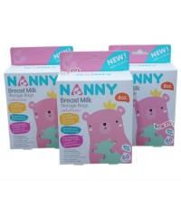 NANNY แนนนี่ ถุงเก็บน้ำนมแนนนี่Nanny8ออนซ์60ใบx3กล่อง(180ใบ)