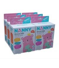 NANNY แนนนี่ ถุงเก็บน้ำนมแนนนี่Nanny8ออนซ์60ใบx12กล่อง(720ใบ)ยกลัง