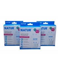 NATUR เนเจอร์ ถุงเก็บน้ำนมเนเจอร์Naturขนาดเล็ก4ออนซ์30ใบx3กล่อง(90ใบ)