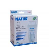 NATUR เนเจอร์ ถุงเก็บน้ำนมเนเจอร์Natur8ออนซ์50ใบ80019
