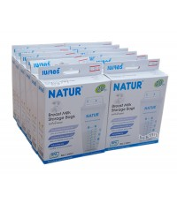 NATUR เนเจอร์ ถุงเก็บน้ำนมเนเจอร์Natur8ออนซ์20ใบx12กล่อง(240ใบ)