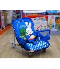 เปลโยกเด็กBEJOY441ลายLittle Bunnyสีฟ้า
