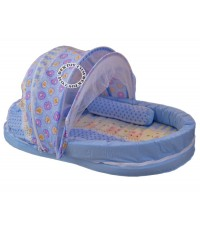 ที่นอนพร้อมมุ้ง ที่นอนเด็กทารก มุ้งครอบ สีฟ้า