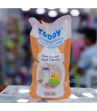 TODDY ทอดดี้ น้ำยาล้างขวดนมทอดดี้ชนิดเติม 700 มล.