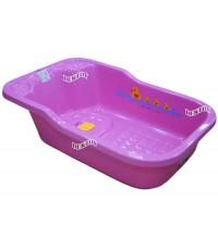 FIN BABIES PLUS อ่างอาบน้ำเด็กขนาดใหญ่ฟาร์ลินมีรูระบายน้ำ USE-A9C สีชมพู