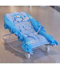 Attoon แอทตูน เปลโยกเด็กแอทตูนเบาะหนานุ่ม สีฟ้า