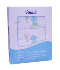 Pureen เพียวรีน ผ้าอ้อมคอตตอนเพียวรีน Cotton USA  2 ชั้นไซส์ 29 x 29 นิ้ว แพ็ค 6 ผืน