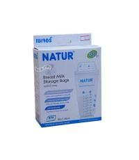 NATUR เนเจอร์ ถุงเก็บน้ำนมเนเจอร์ Natur 8 ออนซ์ 30 ใบ แพ็คเดี่ยว