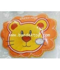 หมอนหลุมผ้าขนหนูหน้าสิงห์โต F สีส้ม