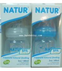 ขวดนมใส 2 ออนซ์ NATUR BPA FREE 81031