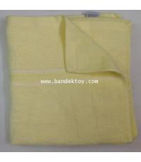 ผ้าขนหนูใหญ่เนื้อนุ่มหนาสีหวาน size 24 นิ้ว สีเหลือง