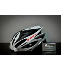 หมวกจักรยาน Super D S-802 สีสุดเท่ (ขาว-ดำ)