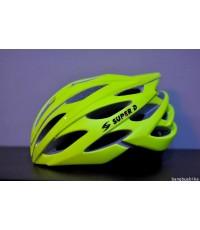 หมวกจักรยาน Super D 808 [เขียวมะนาว]