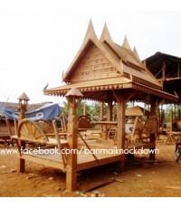 ศาลาไม้ทรงไทย