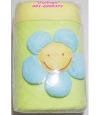 กระเป๋าโฟมเก็บอุณหภูมินมสีเขียวเหลืองดอกทานตะวันน่ารักสุดสุด (สำหรับ 2 ขวด)