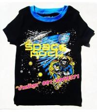 เสื้อแขนสั้น PLACE สีดำฟ้า SPACE ROCK น่ารักน่าใช้สุดสุด Size 10, 12, 14