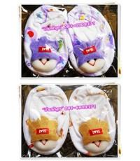 ถุงเท้าเด็กแรกเกิด...สีม่วง น้ำตาล เด็กน้อย LOVE น่ารักน่าใช้สุดสุด (มีให้เลือก 2 สี) Size 10 cm.