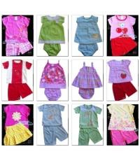 ชุดเสื้อผ้าเด็กๆๆ คละแบบ คละSize คละลาย น่ารักน่าใช้สุดสุด (24 ชุด ราคา 2,280.00 บาท)