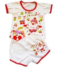 ชุดเสื้อเด็กแรกเกิด...Cotton...คอกลม+กางเกง...คละสี...ลายการ์ตูน...น่ารักน่าใช้สุดสุด (แพ็ค 1 ชุด)