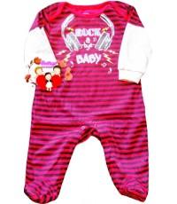 ชุดหมีขาจั๊ม...สีแดงดำ Rock A Bye Baby แขนต่อน่ารักน่าใช้สุดสุด Size 18/24M